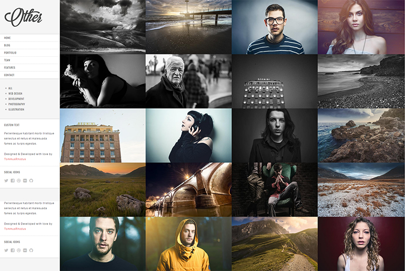 Retina Ready Photography HTML5 Template