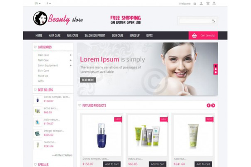 SEO Optimized Beauty Store Prestashop Theme