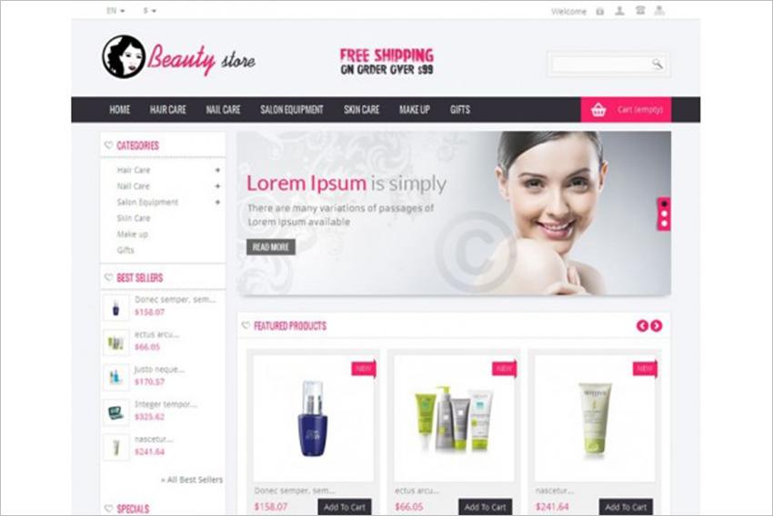 SEO Optimized Beauty Store Prestashop Theme
