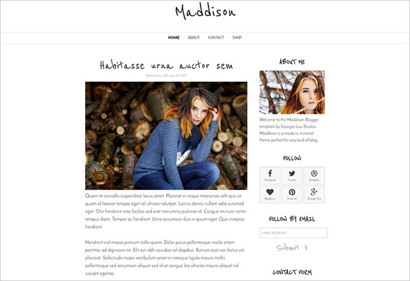 SEO Optimized Blogger Template