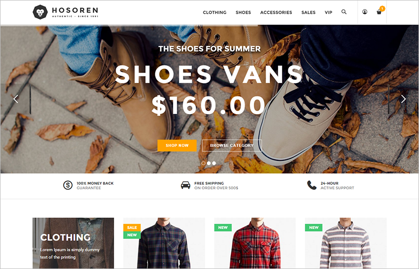 SEO Optimized Fashion Store Magento Theme