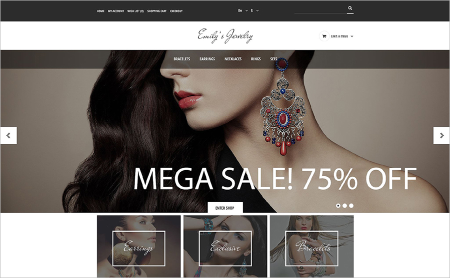 SEO Optimized & JQuery Online Store Template