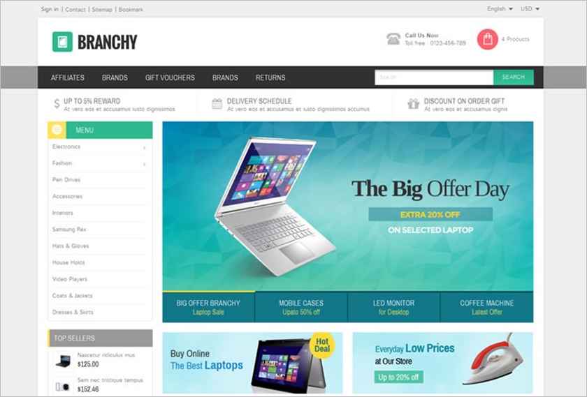 SEO Optimized Prestashop Electronics Store Theme
