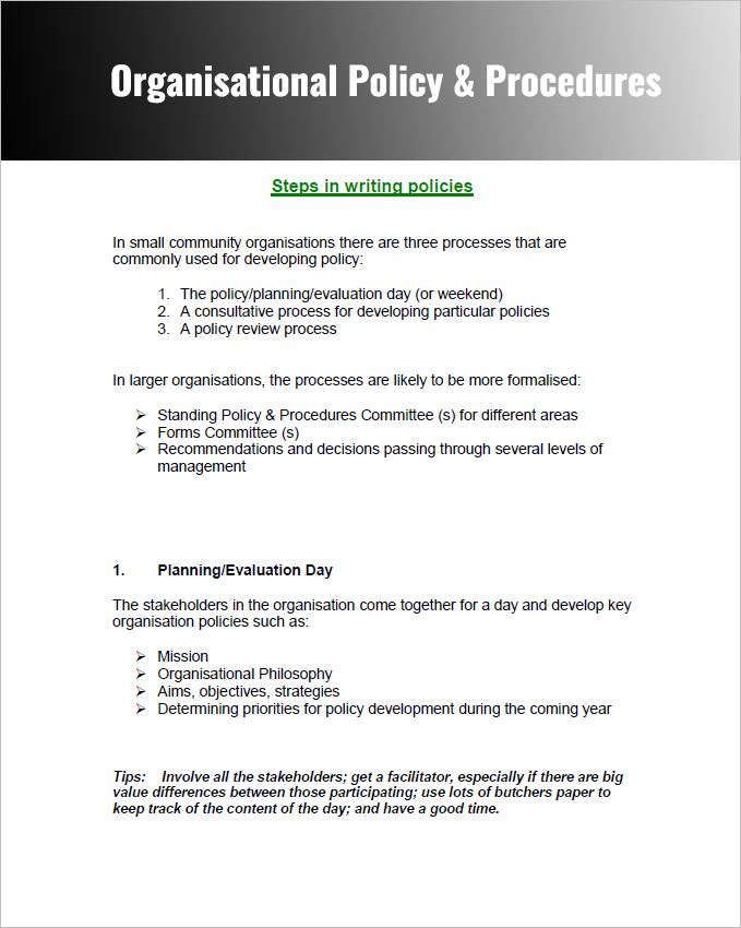Company Policies And Procedures Template 28 Policy And Procedure Templates Free Word PDF Download Examples