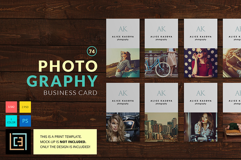 Samples of Photography Business Cards