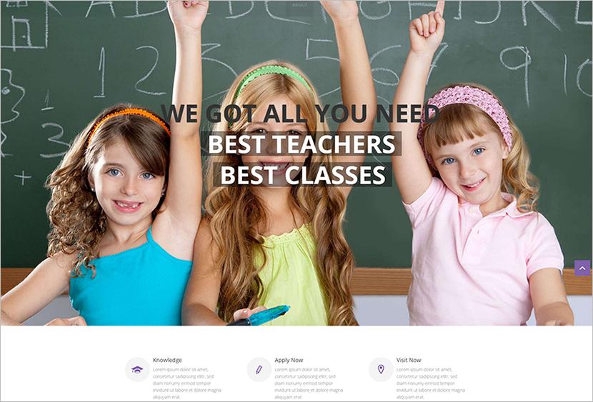 School And Private Teacher Website Template