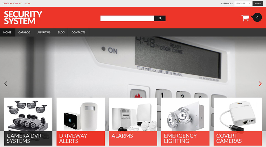 Security Products Online Store VirtueMart Template