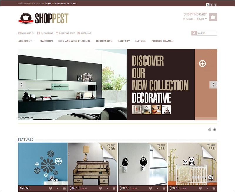 Shopping Opencart Responsive Theme