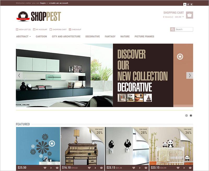 Shopping Opencart Responsive Theme
