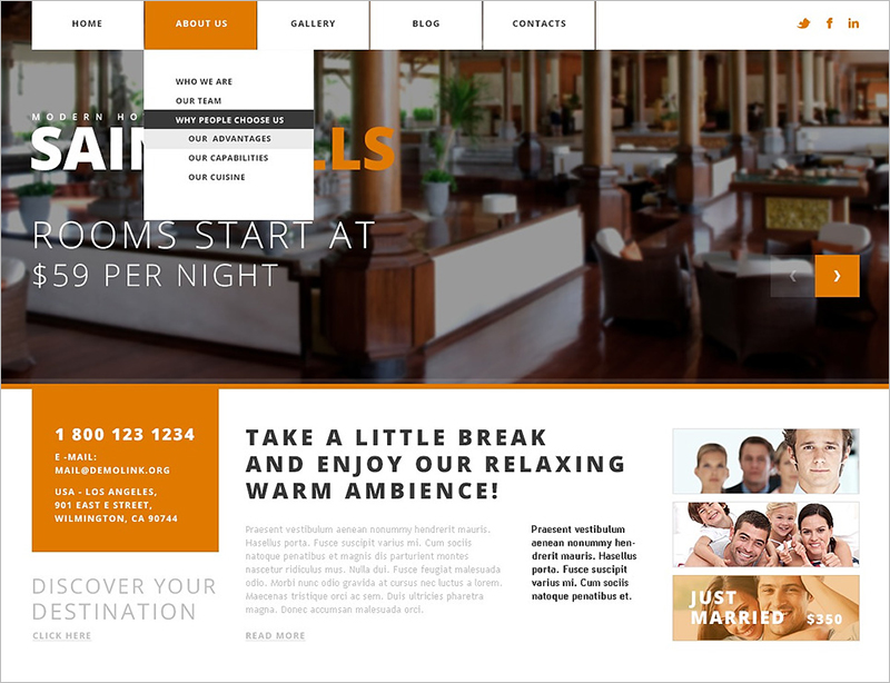 Simple Hotels Joomla Template