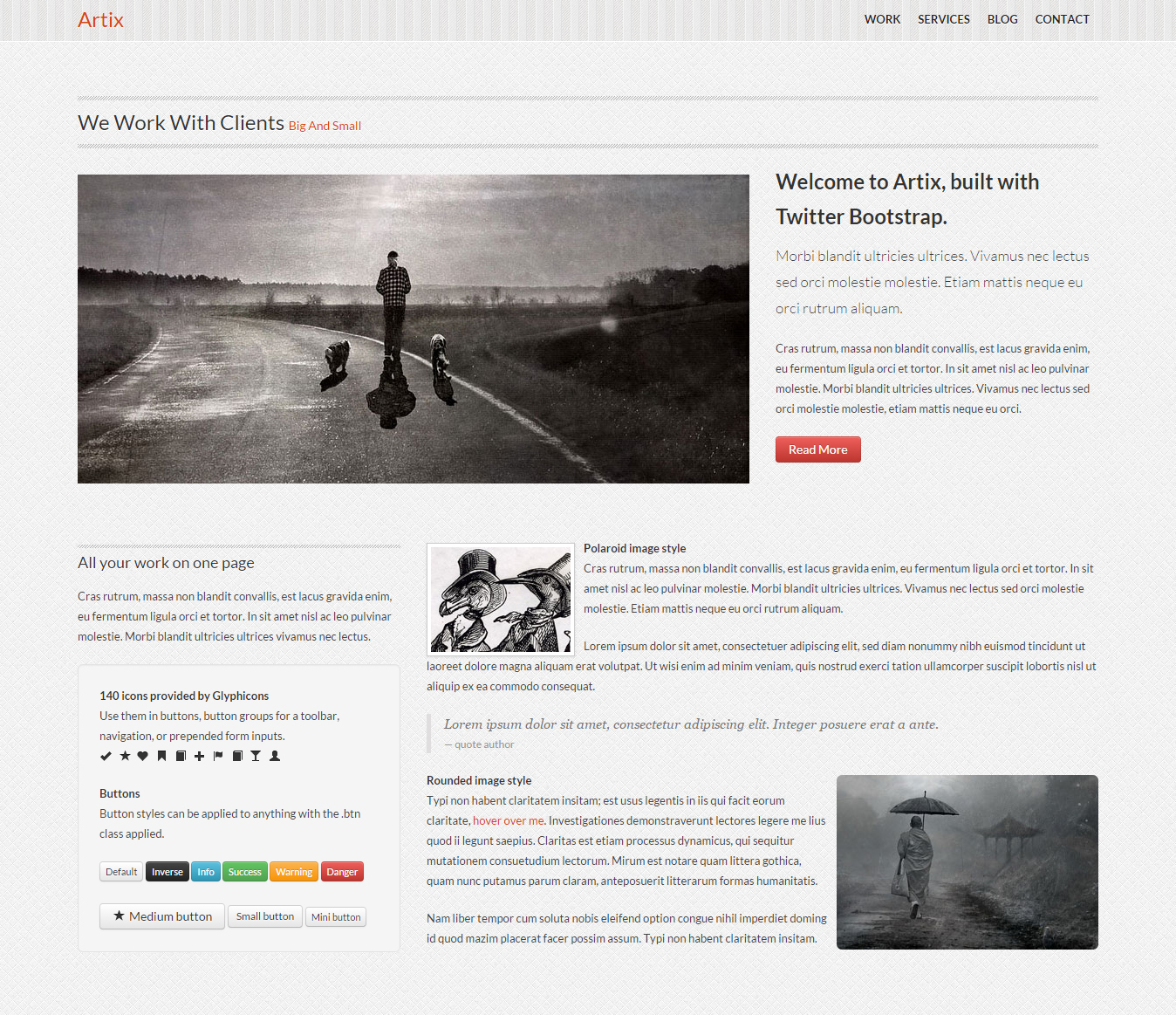 Single Page Responsive Bootstrap Template