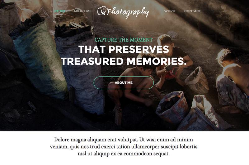 Single Page Responsive Photography HTML5 Theme