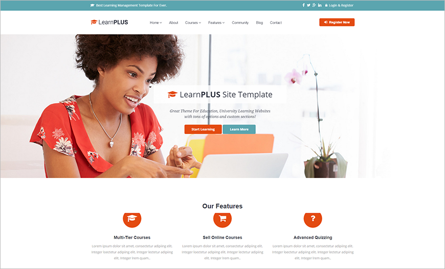 Site Template Built On HTML 5 & CSS3