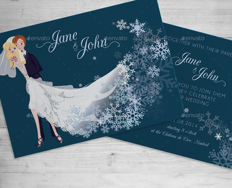 Snow Flake Invitation Card
