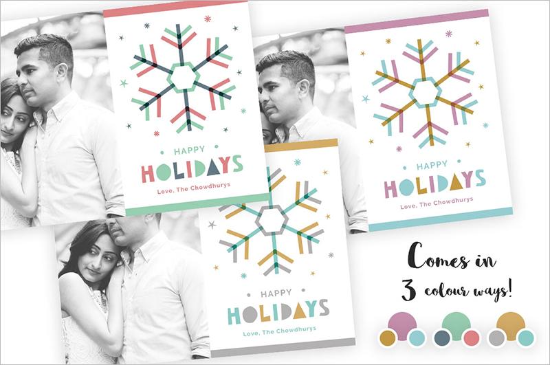 Snowflake Greeting Card Template