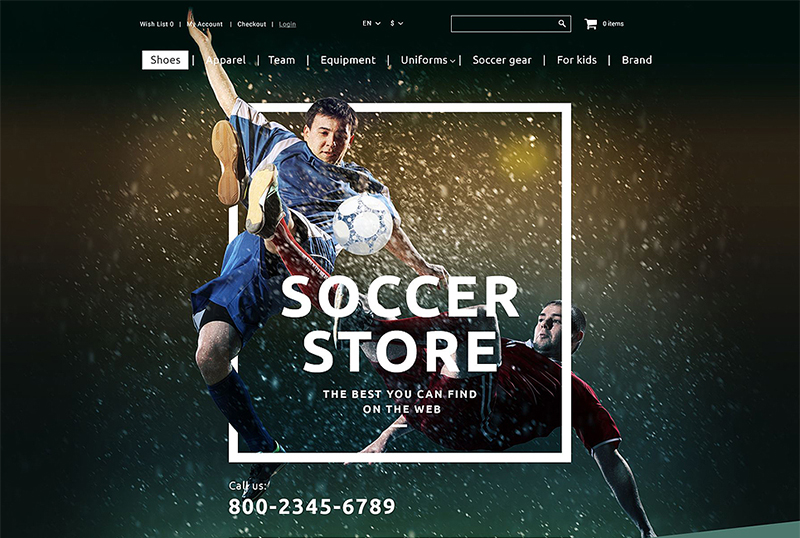 Sport Store OpenCart Template
