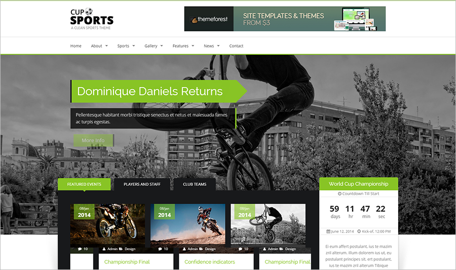 Spoting Responsive Web Template With Bootstrap &HTML