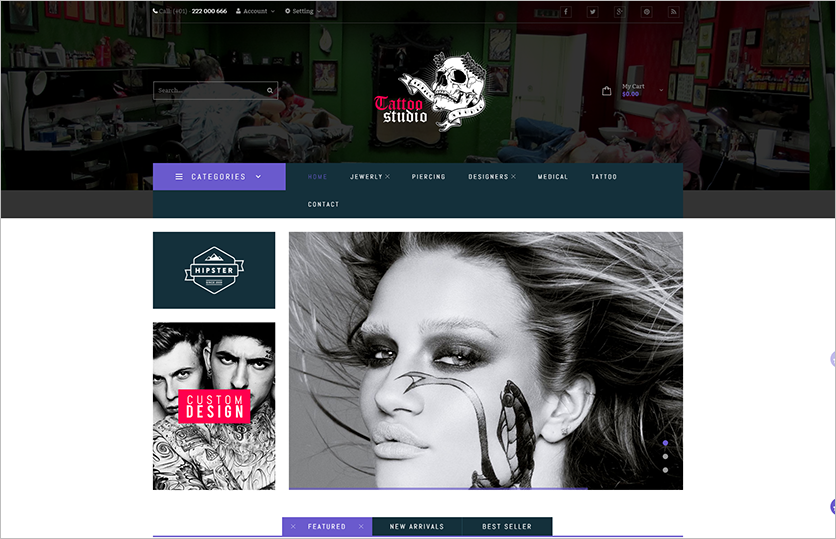 Tattoo Store Magento Template