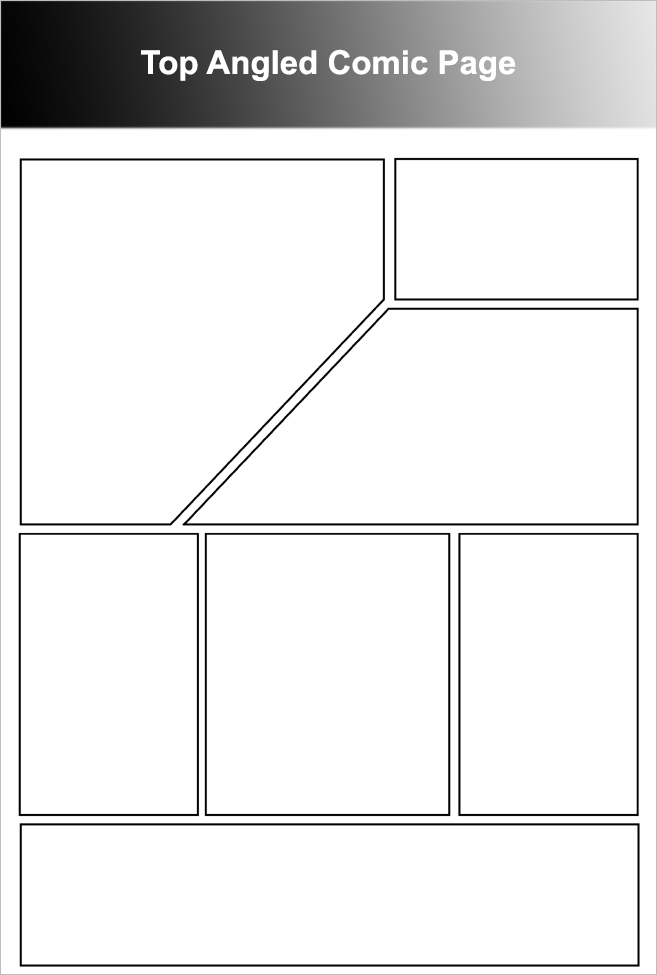 Top Angled Comic Page Template