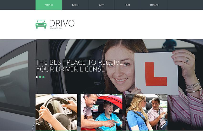 Traffic School Responsive Built On HTML5 & CSS3 Template
