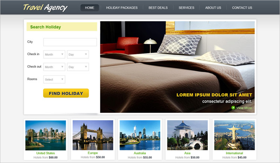 Travel Website Template With PHP