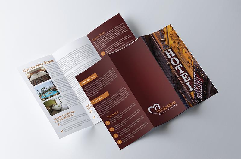 Tri Fold Hotel Brochure Design