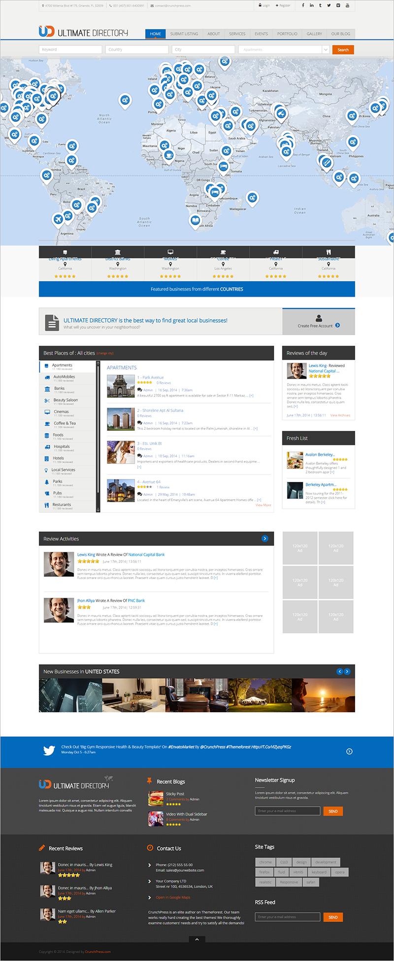 Directory Website Template WordPress