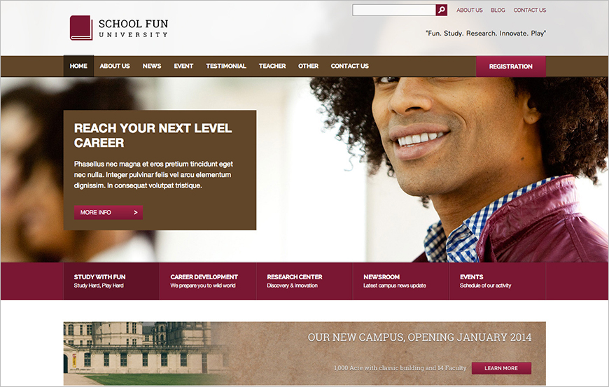 University & School Template With Color Variation