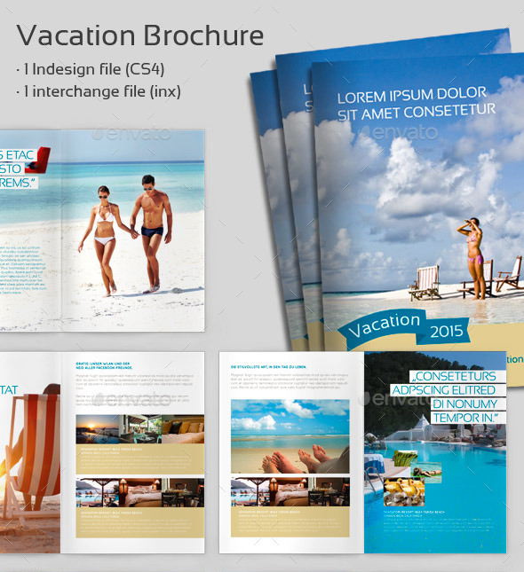 Restaurant Brochure Designs Templates Examples – Vacation Brochure Template