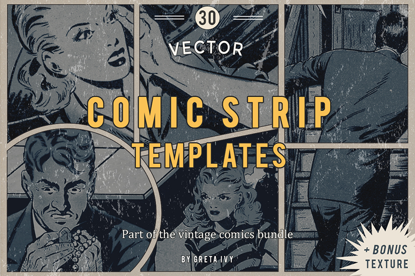 Vector Comic Strip Templates