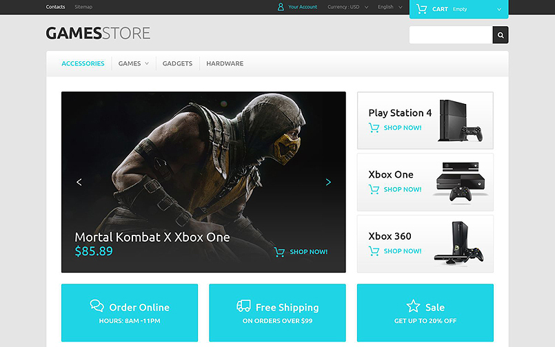 Video Games Online Store PrestaShop Theme