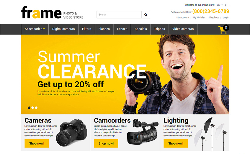 Video Store Responsive Magento Template