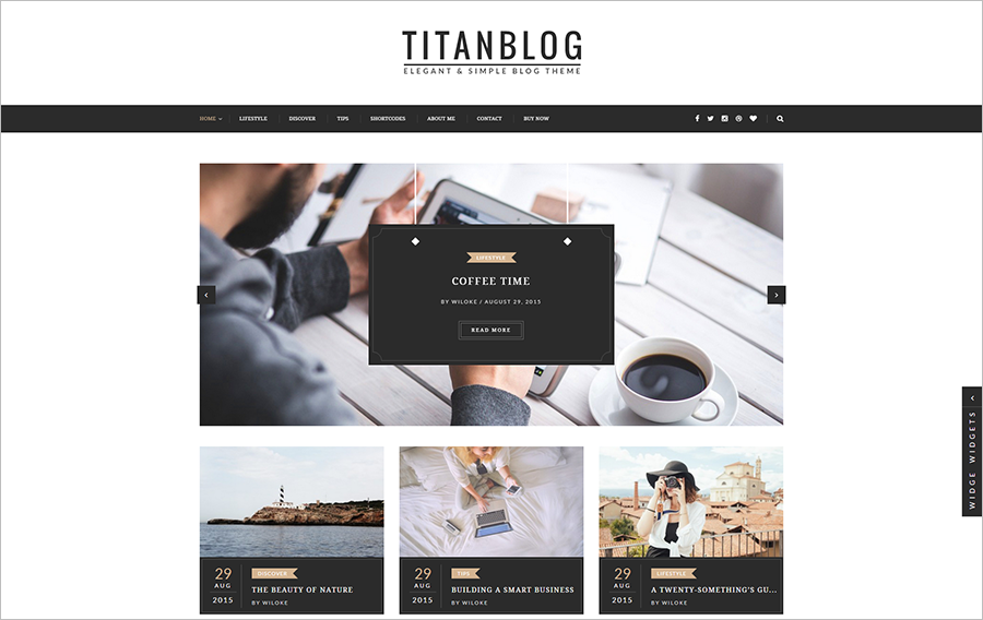 WP Blog Theme With Post Formats