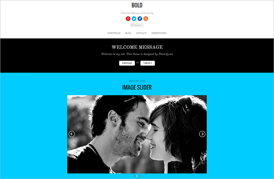 WP Blogging Theme With List and Gridview Layout Options