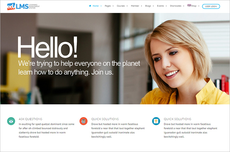 WP Learning Management System Theme