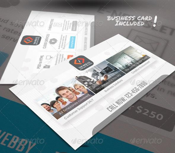Web Design Service Business Card Template