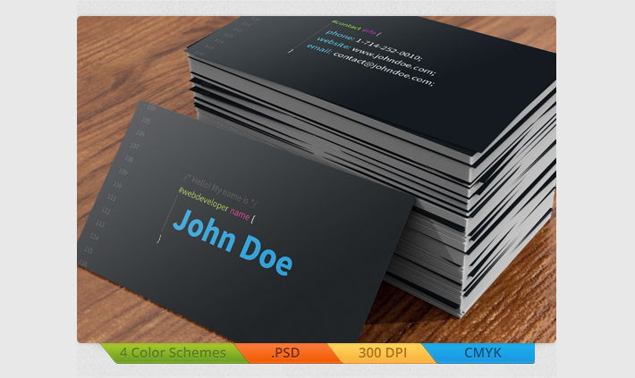25 web developer business card psd templates web developer business card colourmoves