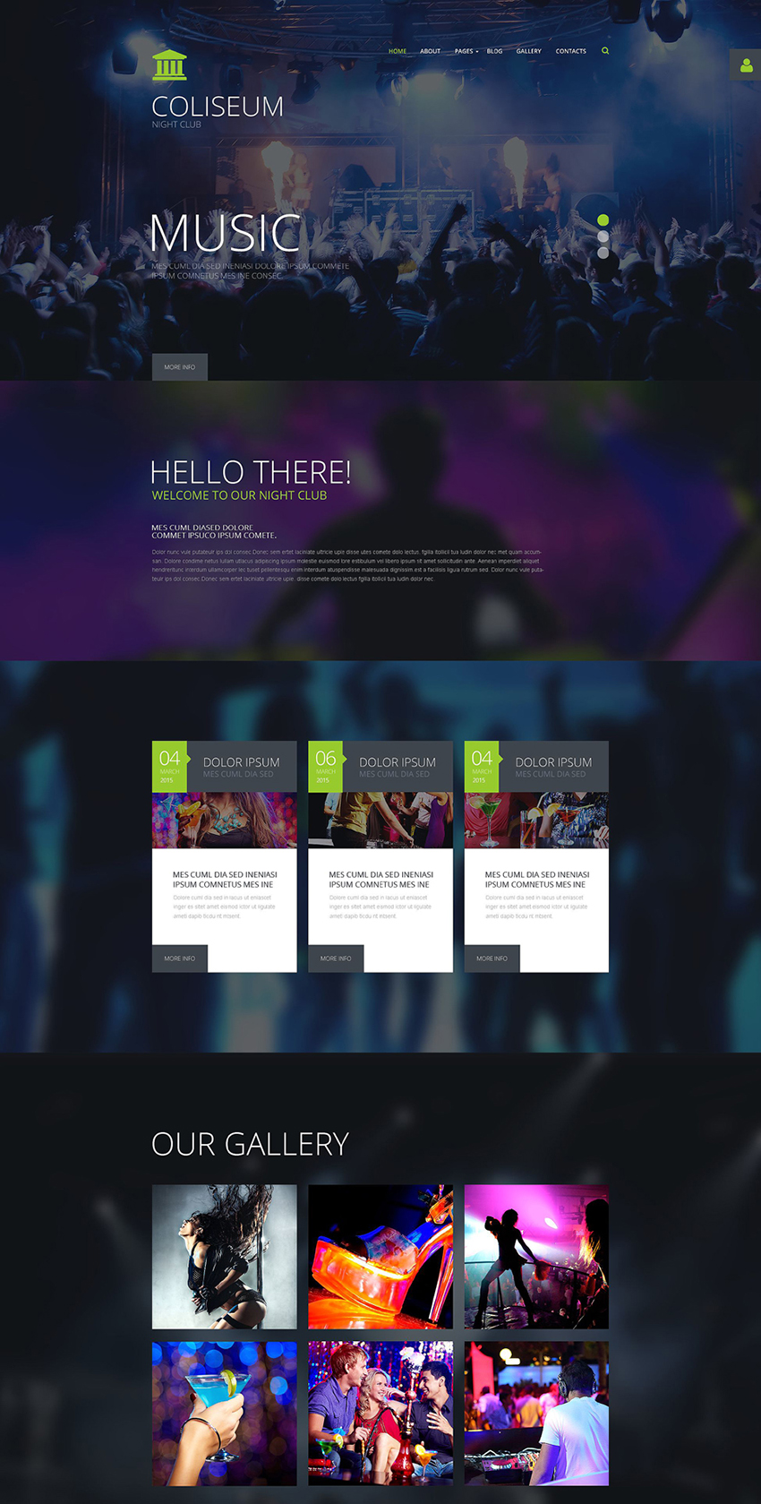 Website Joomla Template For Night Club