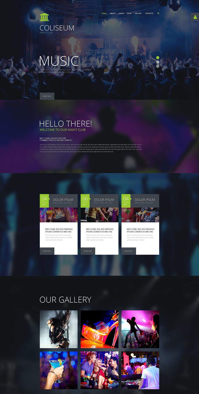 Website Joomla Template For Night Club