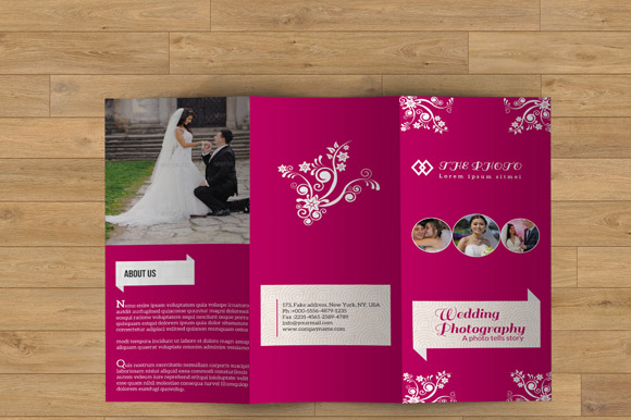 Wedding Event Brochure Template
