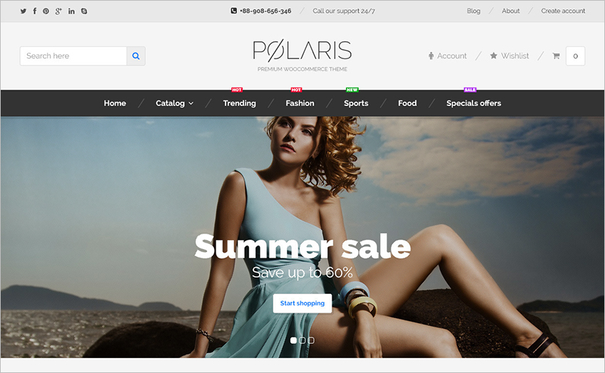 WooCommerce Theme Built On HTML5 & CSS3
