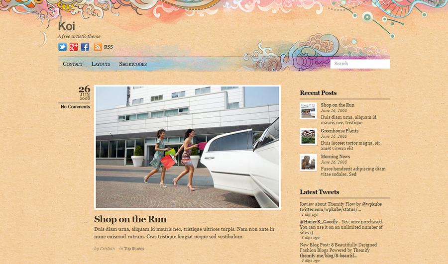WordPress Blog Theme With Social Icons