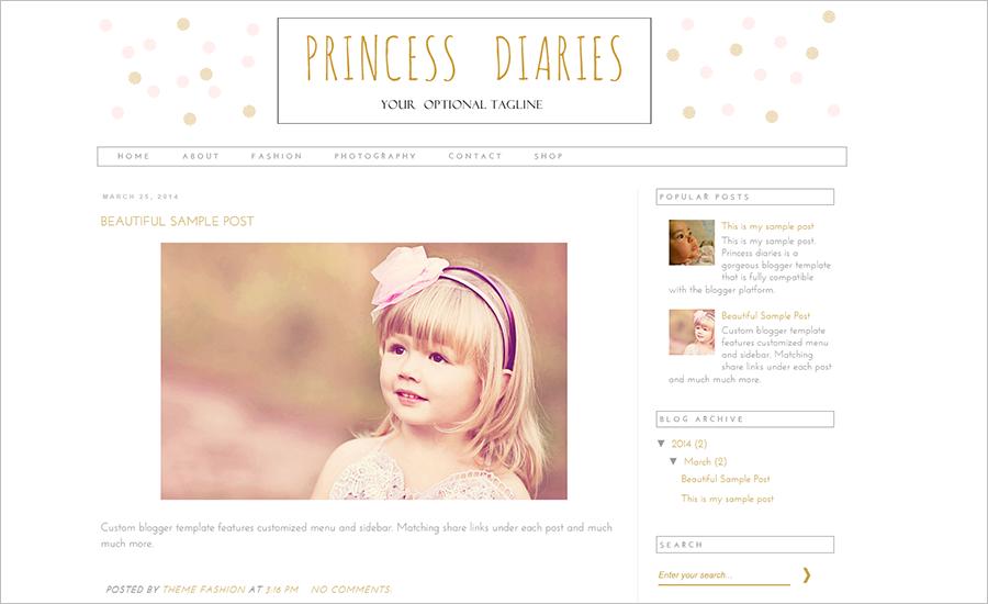 WordPress Blog Theme With White Background