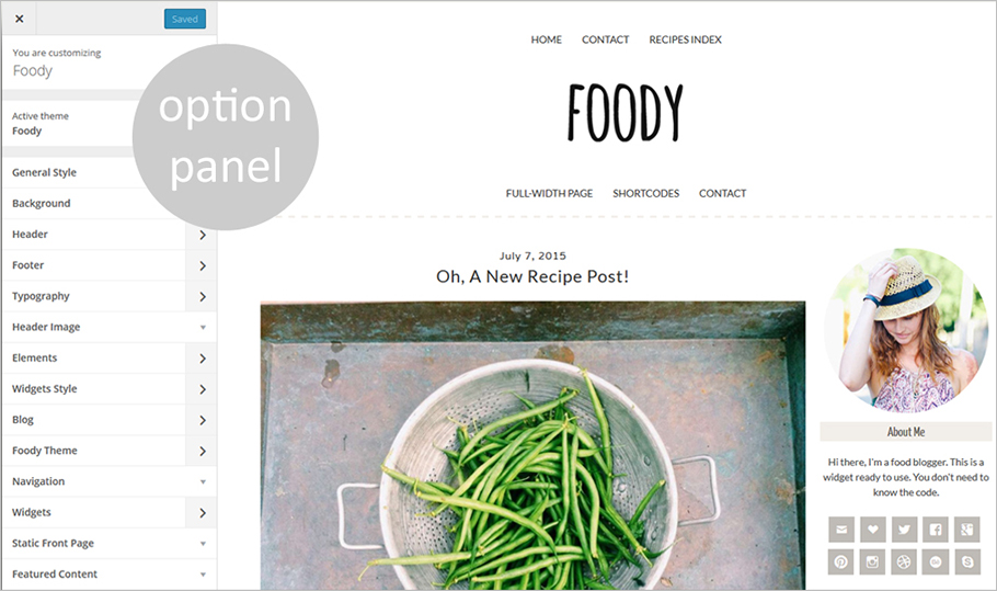 WordPress Food Related Blog