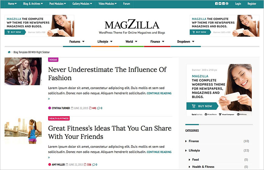 WordPress Template For Fashion Blog