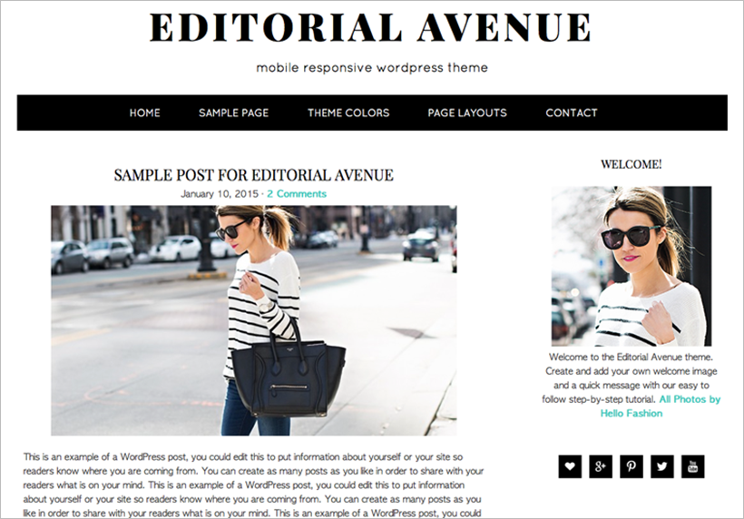 WordPress Theme Fashion Blog