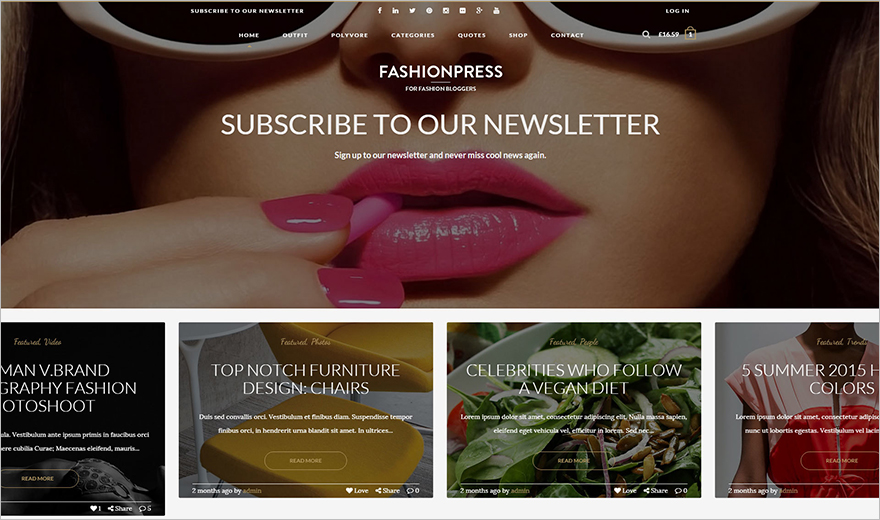WordPress Theme for Fashion Bloggers