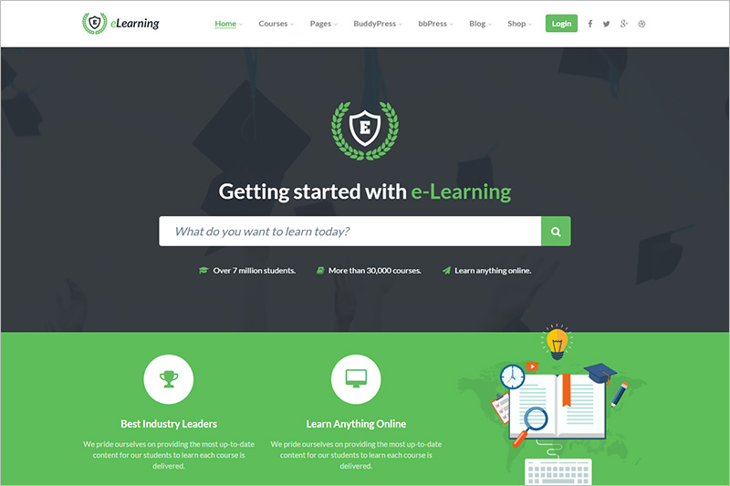WordPress e Learning Theme