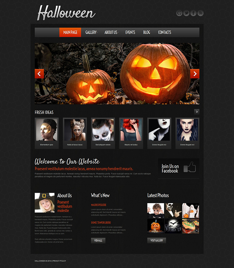 Wordpress Halloween Template