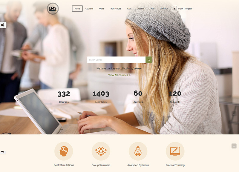 Wordpress Learning Management System Theme